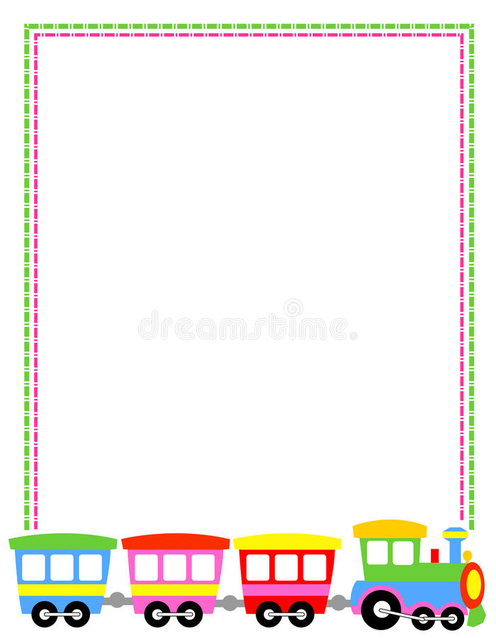 Download Toytrain border stock vector. Image of childhood, green - 24376021