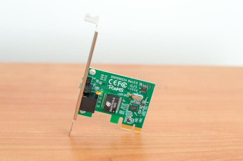 Tp-ΣΥΝΔΕΣΗ tg-3468 προσαρμοστής Ethernet καρτών Gigabit PCIe στοκ εικόνα με δικαίωμα ελεύθερης χρήσης