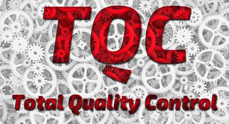 TQC Controle de qualidade total ilustração do vetor