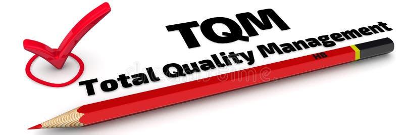 TQM Gestão de qualidade total A marca ilustração stock