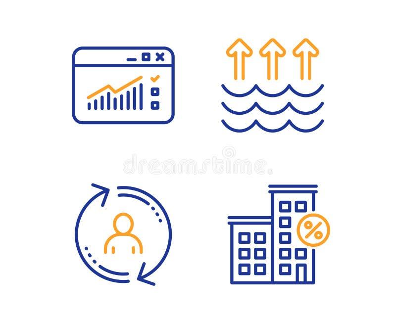 Tráfego da evaporação, da Web e de informação de usuário grupo dos ícones Sinal da casa do empréstimo Vetor ilustração royalty free
