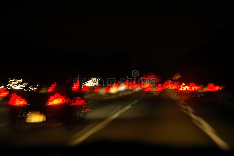 Tráfego da noite foto de stock royalty free