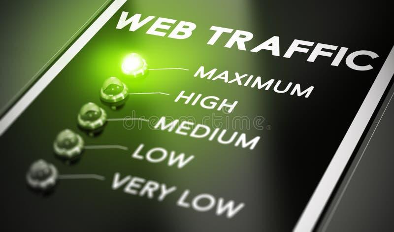 TRÁFEGO DA WEB ilustração do vetor