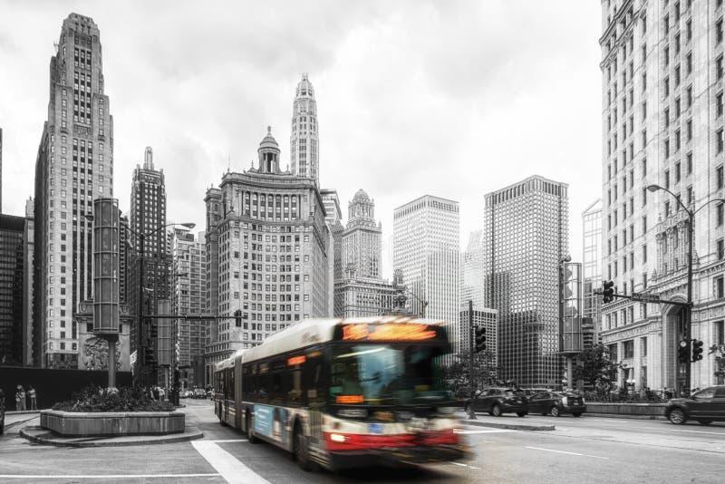 Tráfego de Chicago fotografia de stock