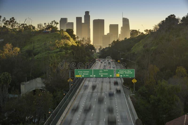 Tráfego de Los Angeles imagens de stock royalty free