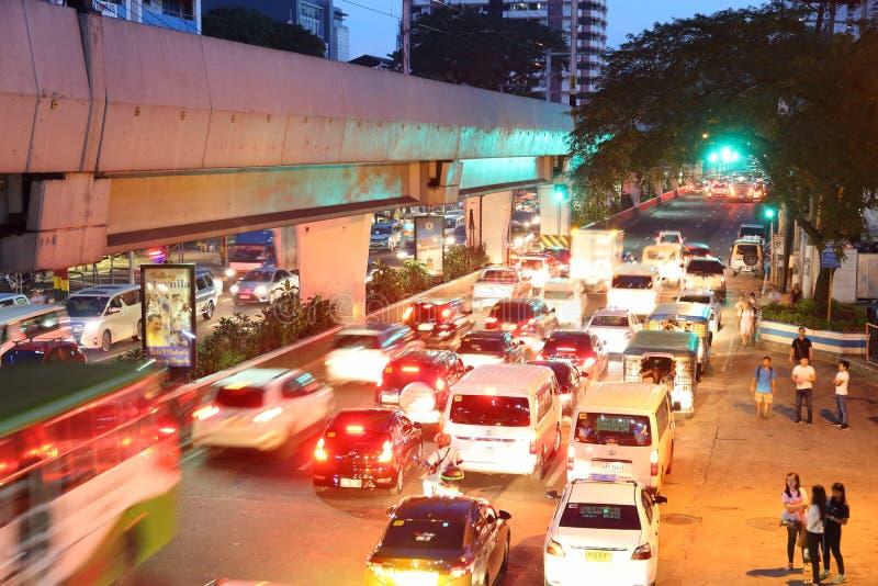 Tráfego de Manila fotografia de stock