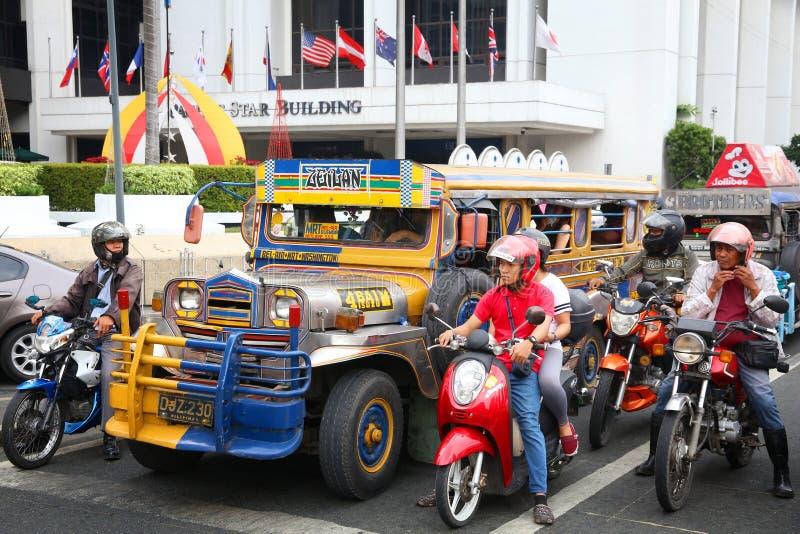 Tráfego de Manila fotografia de stock royalty free