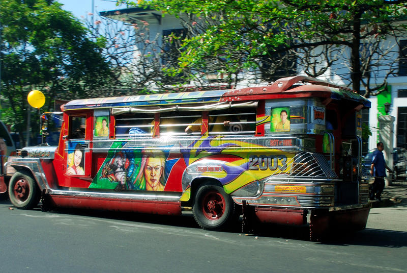 Tráfego de Manila foto de stock