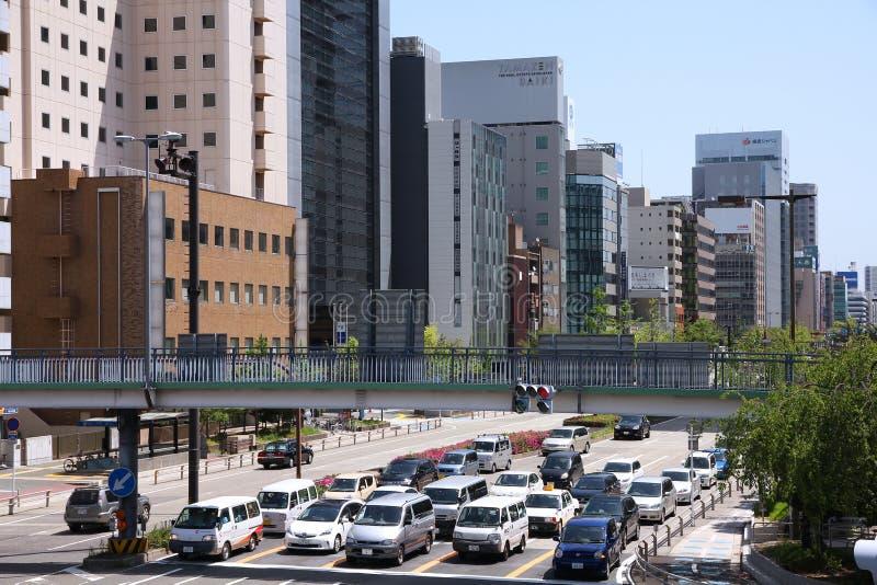 Tráfego de Nagoya fotografia de stock