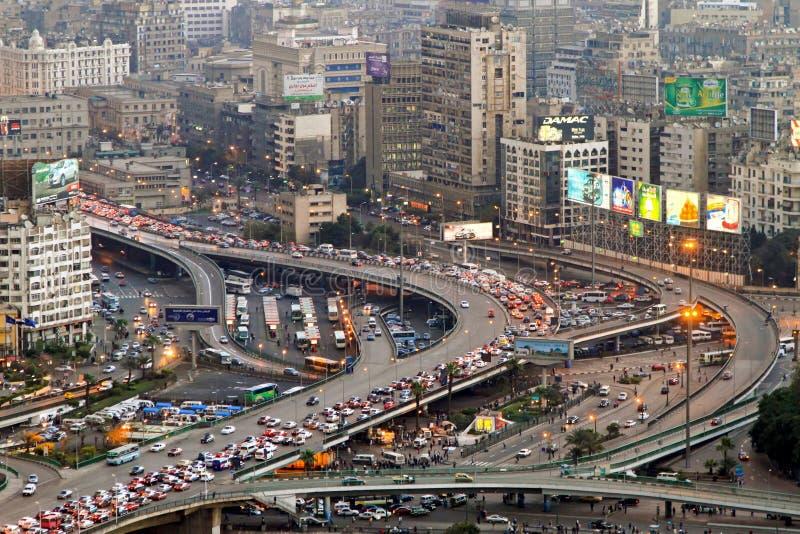 Tráfego do Cairo fotos de stock royalty free