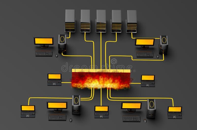 Tráfego do guarda-fogo ilustração stock