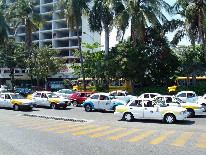 Tráfego em Acapulco fotos de stock