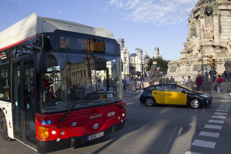 Tráfego em Barcelona, Spain imagem de stock royalty free