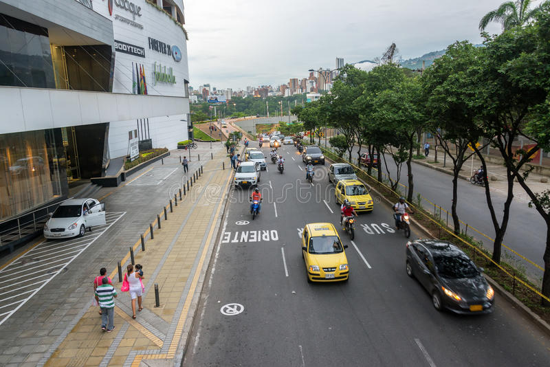 Tráfego em Bucaramanga imagem de stock