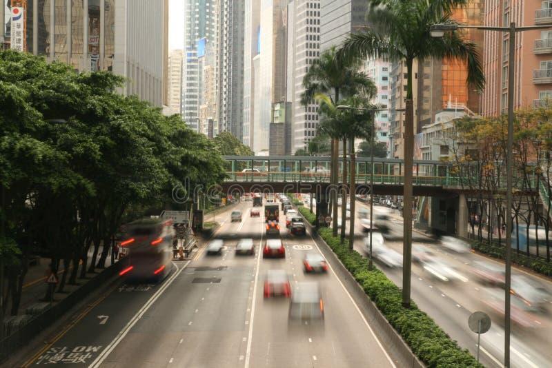 Tráfego em Hong Kong Wan Chai imagem de stock