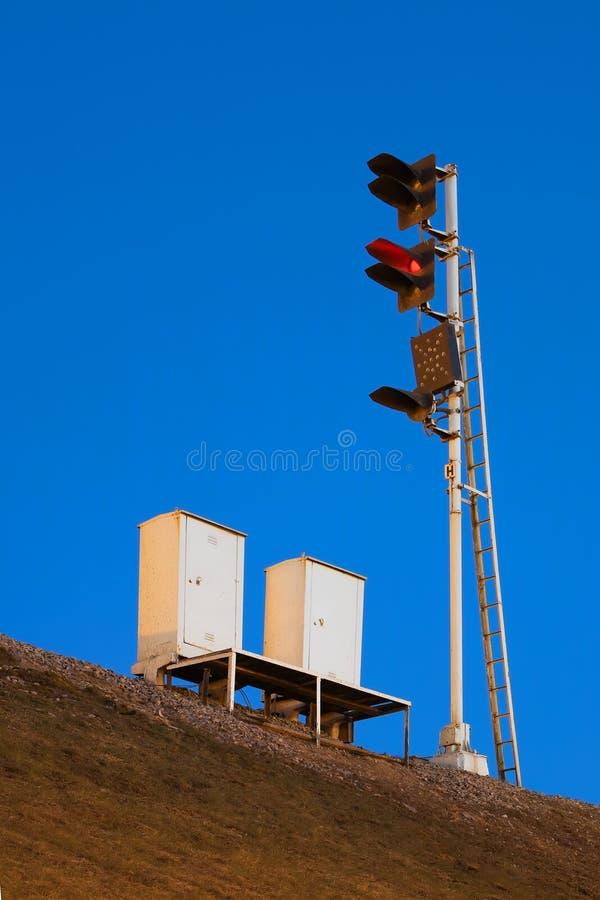 Tráfego-luz Da Estrada De Ferro Imagens de Stock Royalty Free