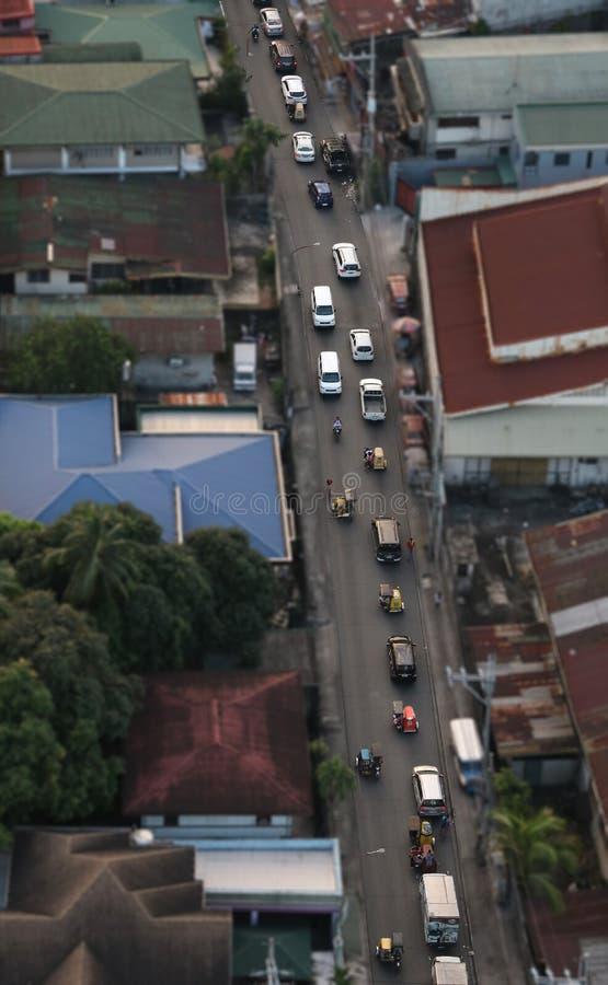 Tráfego-Manila Filipinas foto de stock