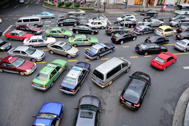 Tráfego ocupado em Shanghai foto de stock