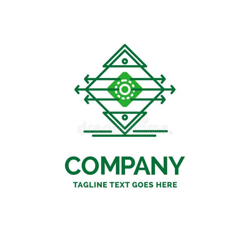 Tráfego, pista, estrada, sinal, molde liso do logotipo do negócio da segurança ilustração stock