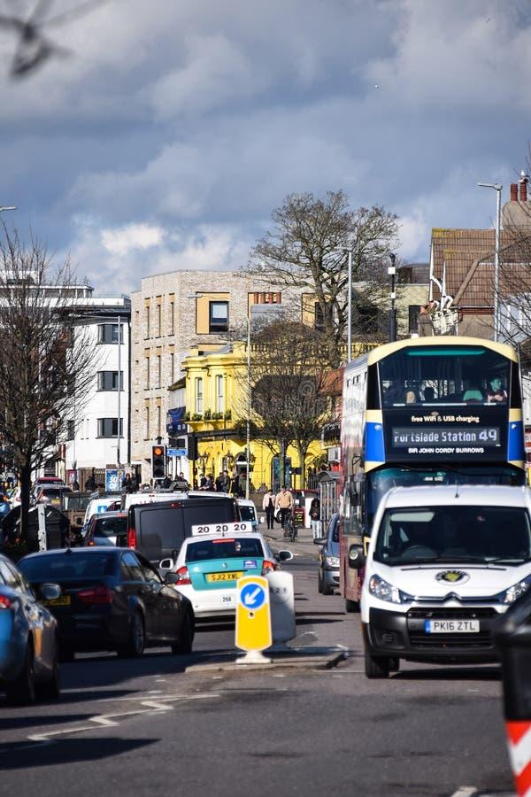 Tráfego rodoviário de Lewes imagens de stock royalty free