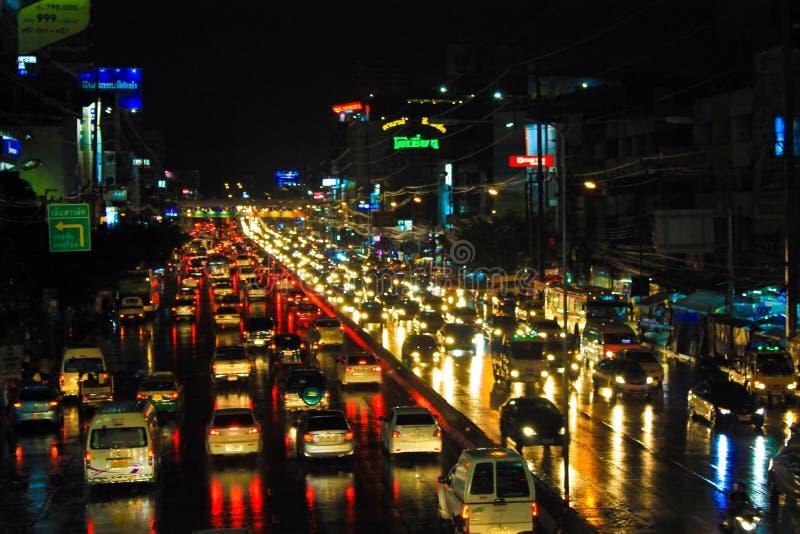 Tráfico Bangkok imagen de archivo libre de regalías