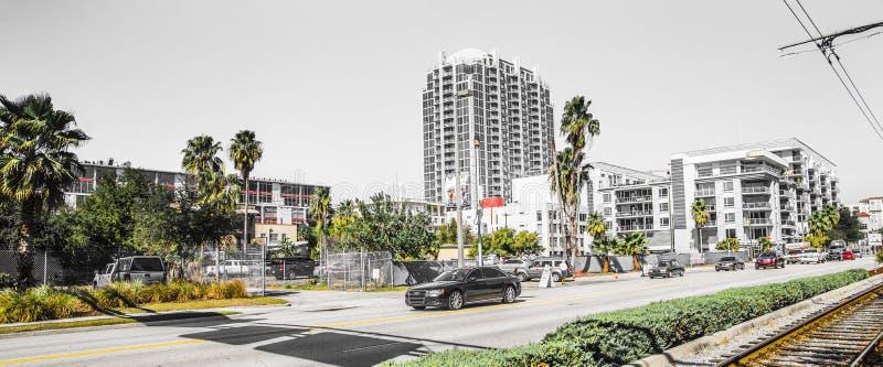 Tráfico de Audi Cars Florida Street foto de archivo