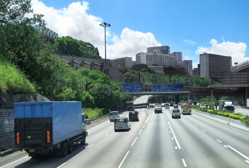 Tráfico de ciudad en Hong-Kong. foto de archivo libre de regalías