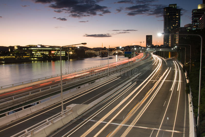 Tráfico De La Hora Punta De Brisbane Imagen de archivo libre de regalías