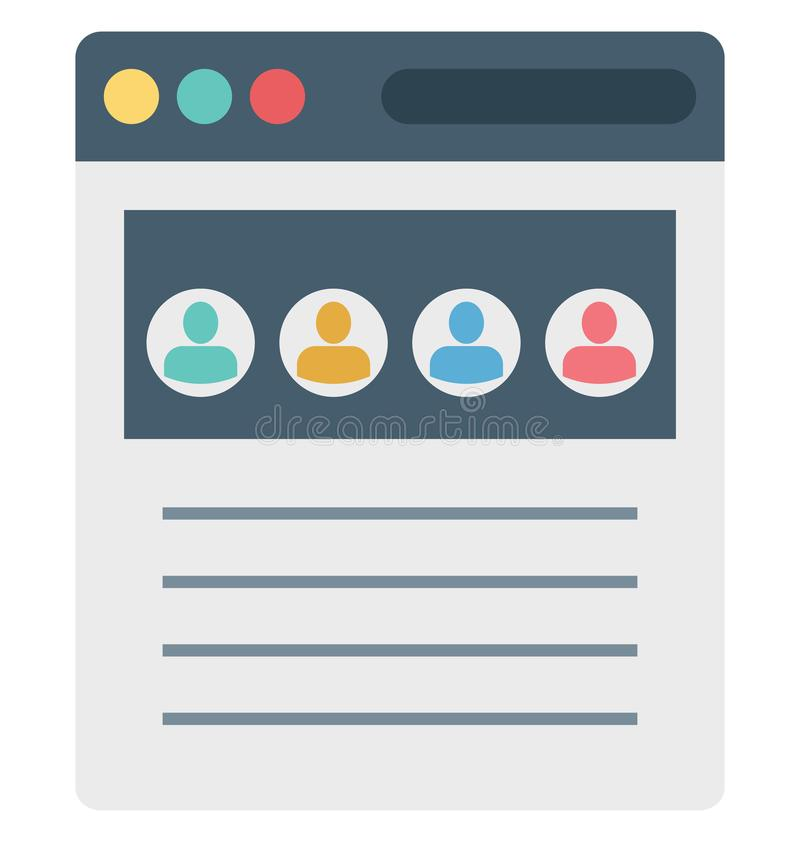Tráfico de la web, usuarios, iconos aislados del vector que pueden ser modificados o corregir fácilmente libre illustration