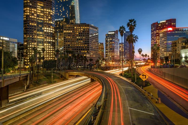 Tráfico de Los Ángeles imagenes de archivo