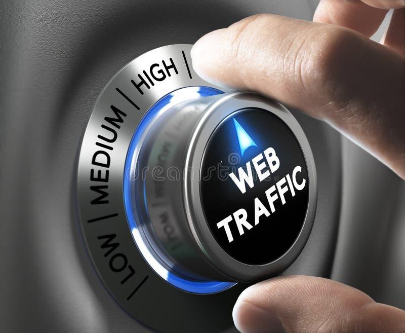 Tráfico del sitio web ilustración del vector
