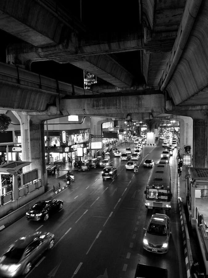 Tráfico en Bangkok fotografía de archivo libre de regalías