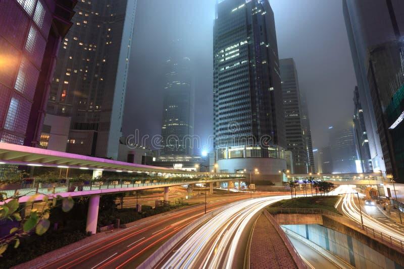 Tráfico en ciudad fotos de archivo