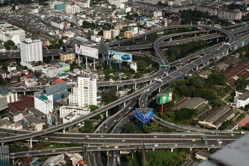 Tráfico en diciembre en Bangkok fotografía de archivo libre de regalías