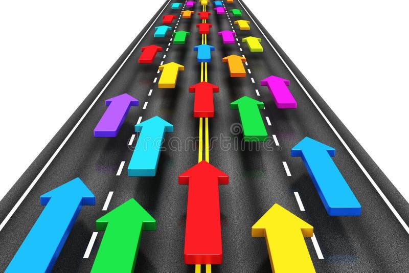 Tráfico en el camino ilustración del vector