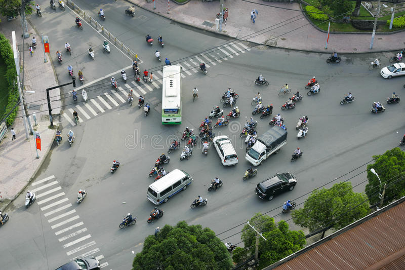 Tráfico en Ho Chi Minh City imagen de archivo