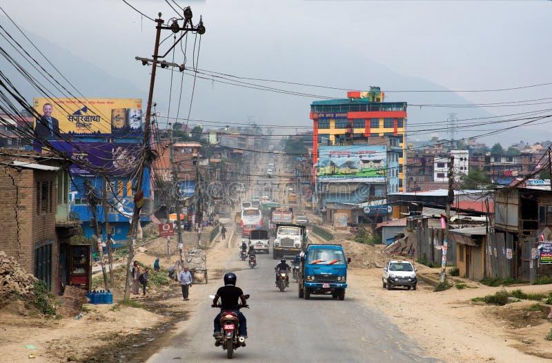 Tráfico en Nepal fotos de archivo libres de regalías