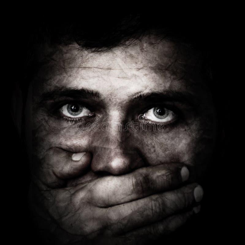 Tráfico humano imagem de stock