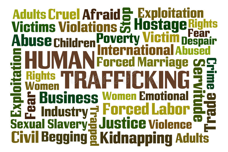 Tráfico humano stock de ilustración