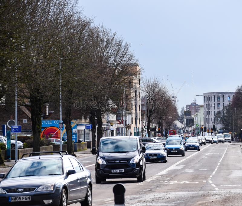 Tráfico por carretera de Lewes imagen de archivo libre de regalías