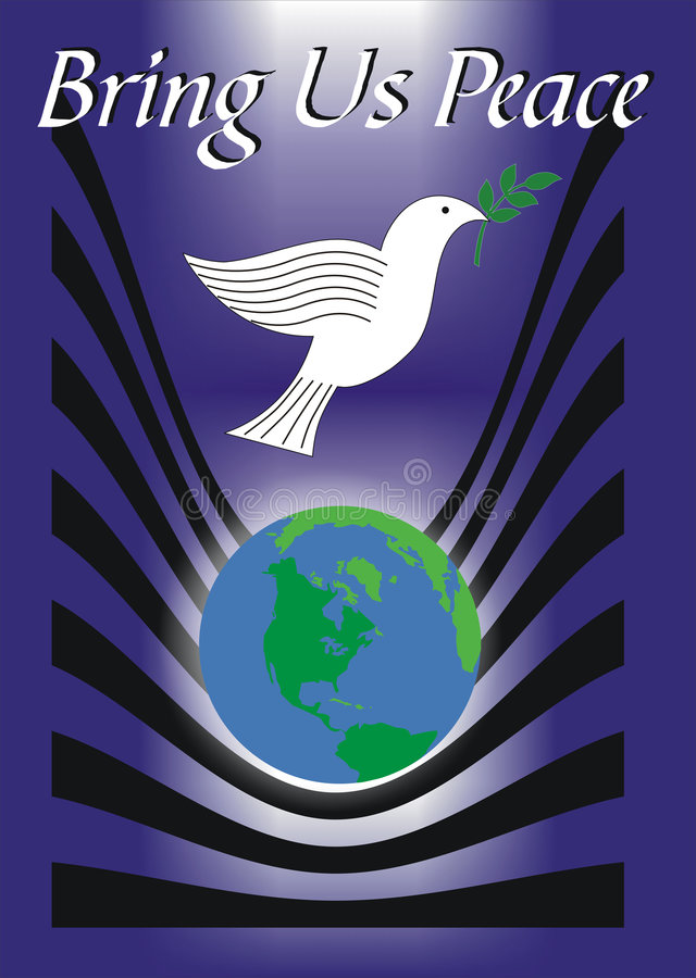 Tráiganos la paz ilustración del vector