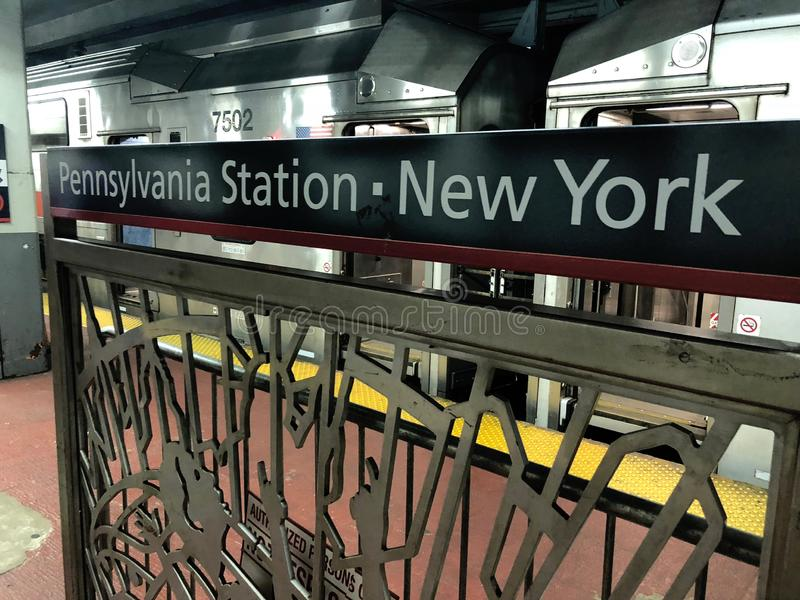 Tránsito Penn Station de NJ imagen de archivo libre de regalías