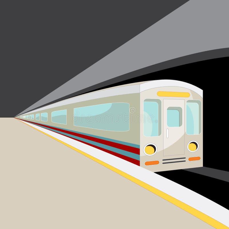 Tránsito rápido del subterráneo ilustración del vector