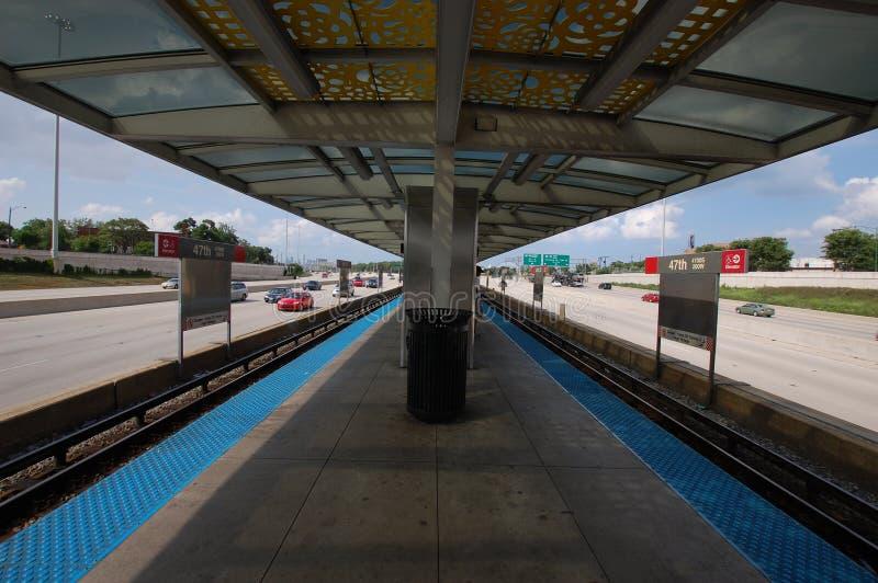 Trânsito de Chicago imagens de stock royalty free