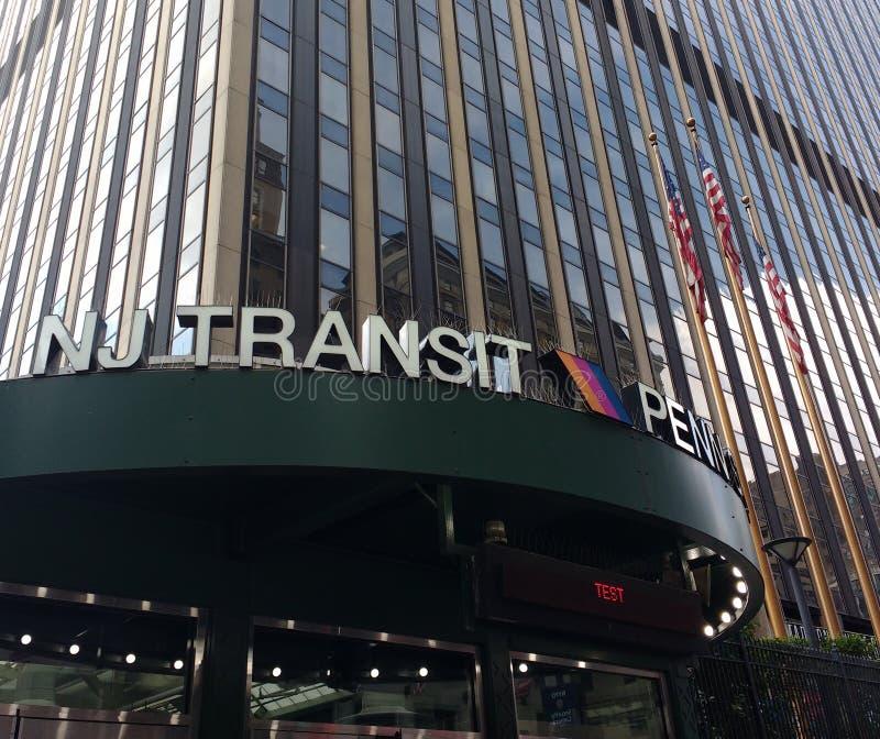 Trânsito de NJ, trânsito de New-jersey, Penn Station, estação de Pensilvânia, New York City, NYC, EUA foto de stock royalty free