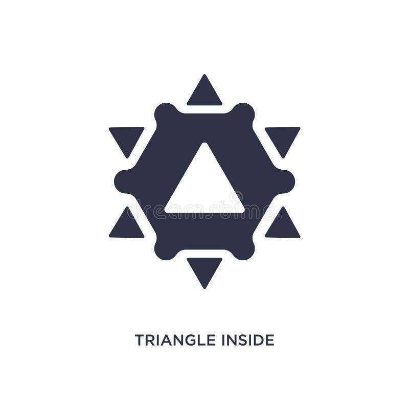 trójbok wśrodku sześciokąt ikony na białym tle Prosta element ilustracja od geometrii pojęcia royalty ilustracja