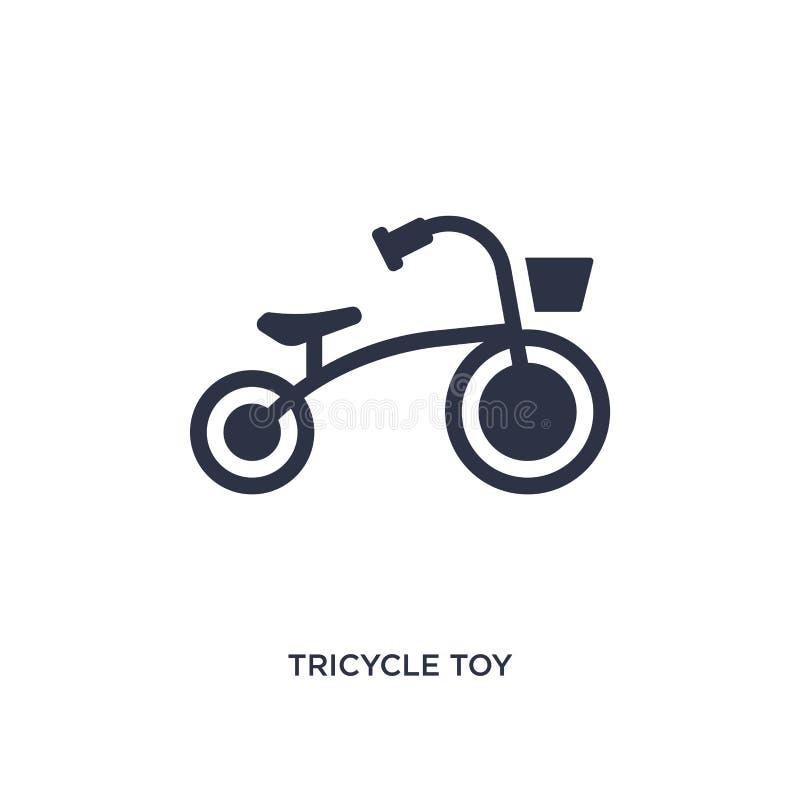 trójkołowiec zabawkarska ikona na białym tle Prosta element ilustracja od zabawki pojęcia ilustracja wektor