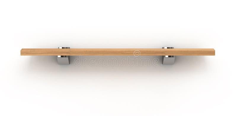 Trä bordlägga isolerat på vit vektor illustrationer