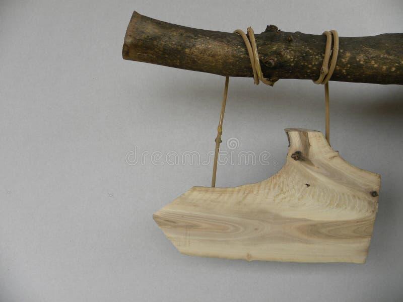 trä för bana för affischtavla clipping isolerat vitt arkivbild