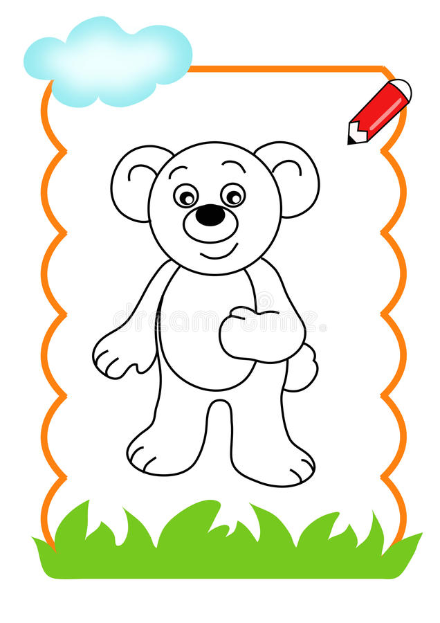 trä för björnbokfärgläggning royaltyfria bilder